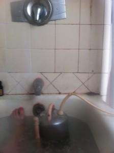 Posting in the bathtub