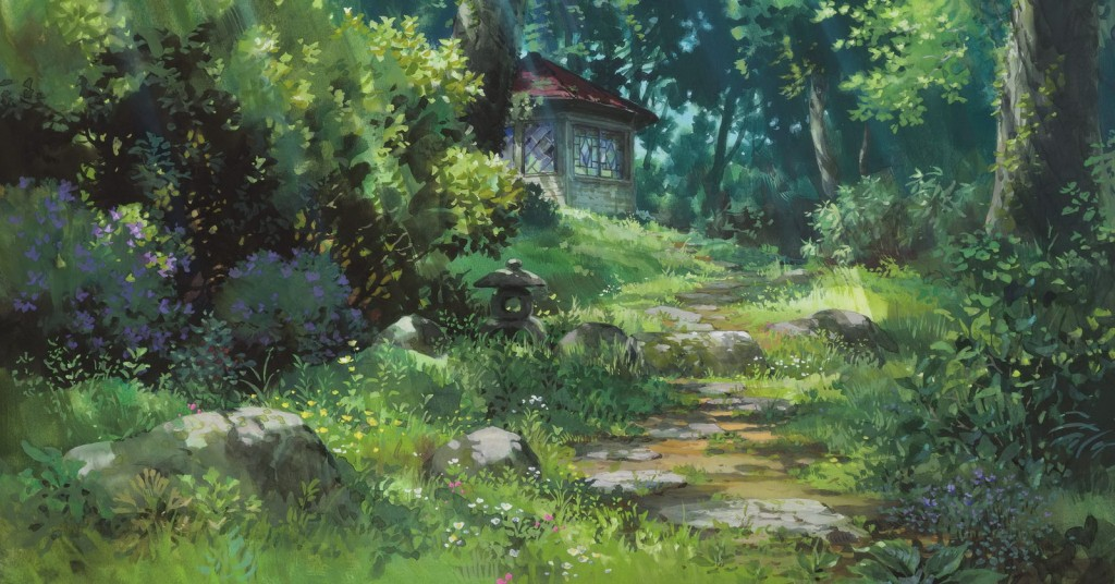 A background of the garden house seen in all versions of Arrietty.