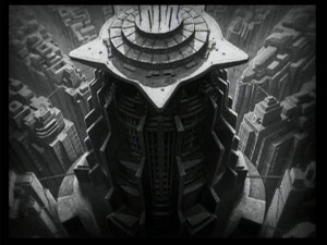 Skyscraper Matte Painting from Metropolis